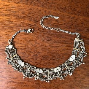 Free People Silver Choker Necklace
